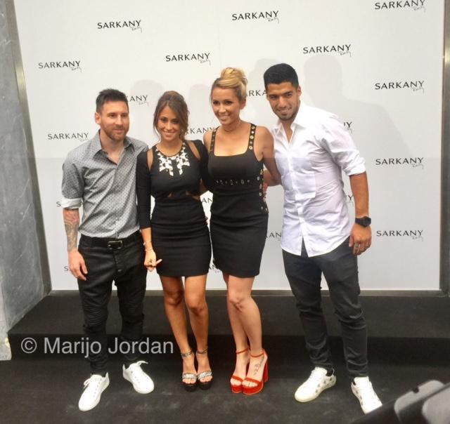 La zapatería de las WAG's de Messi y Suárez