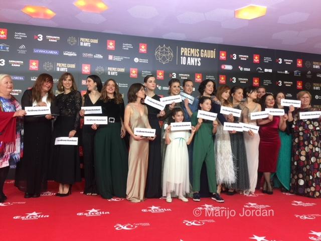 Feminismo en la alfombra roja de los Premios Gaudí 2018