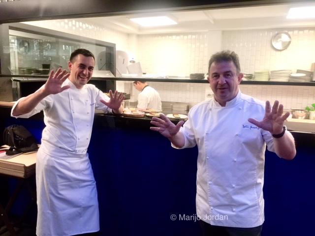 Una cena a 4 manos entre Berasategui y Casagrande en el restaurante Lasarte