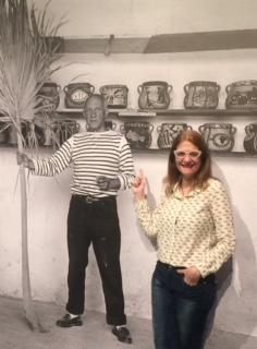 Marijo Jordan en la exposición La cocina de Picasso