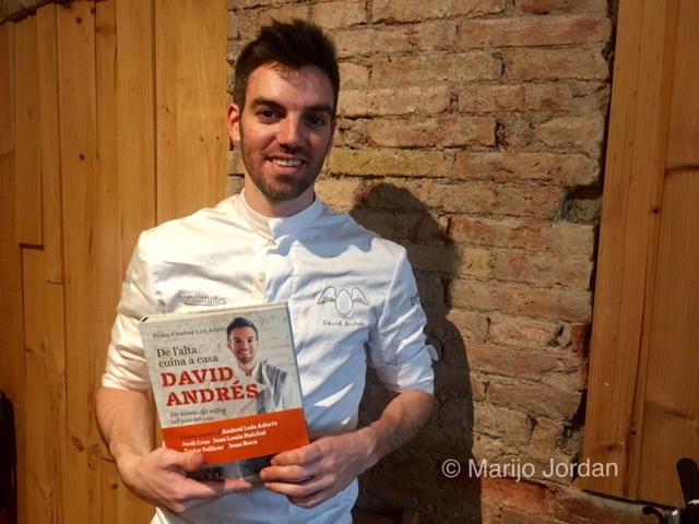 David Andrés: su último reto en el concurso de los mejores chefs jóvenes y su primer libro